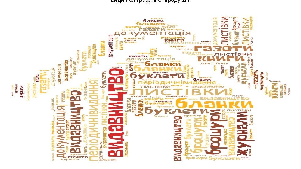 Види поліграфічної продукції