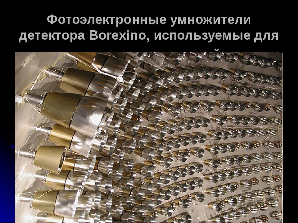 Фотоэлектронные умножители детектора Borexino, используемые для регистрации солнечных нейтрино