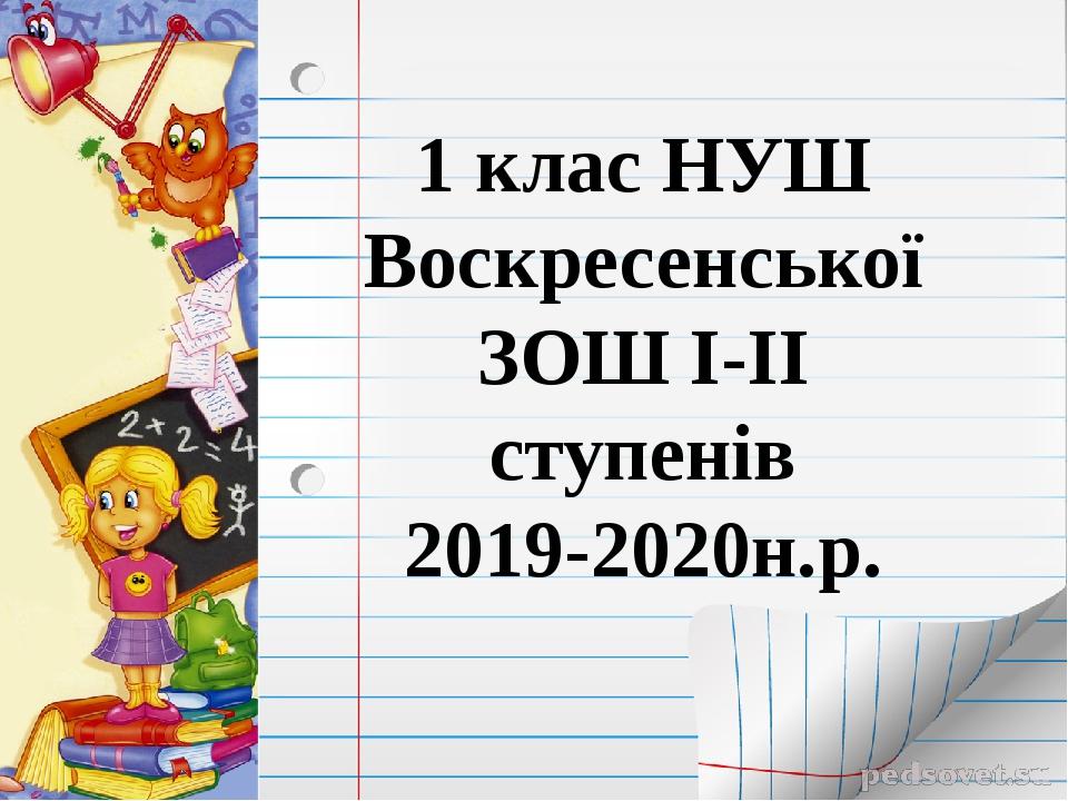 1 клас НУШ Воскресенської ЗОШ І-ІІ ступенів 2019-2020н.р.