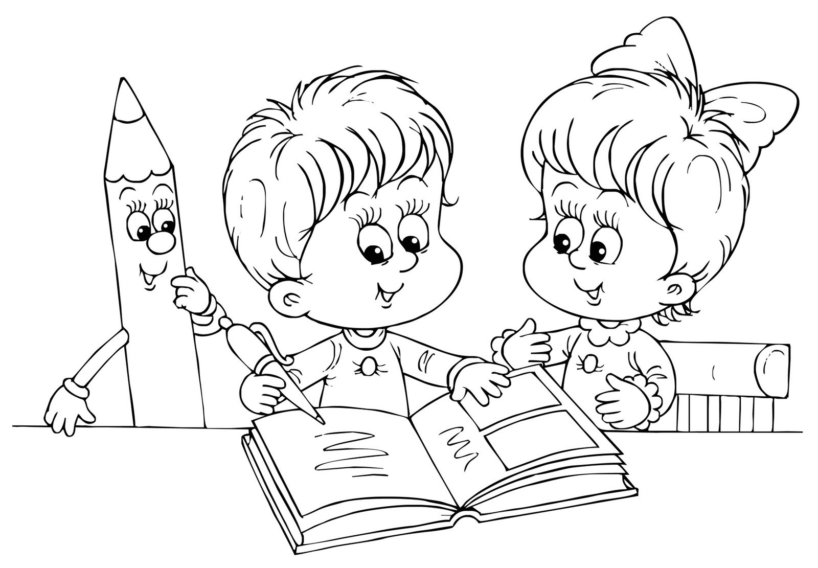 Картинки карандашом о школе и про школу