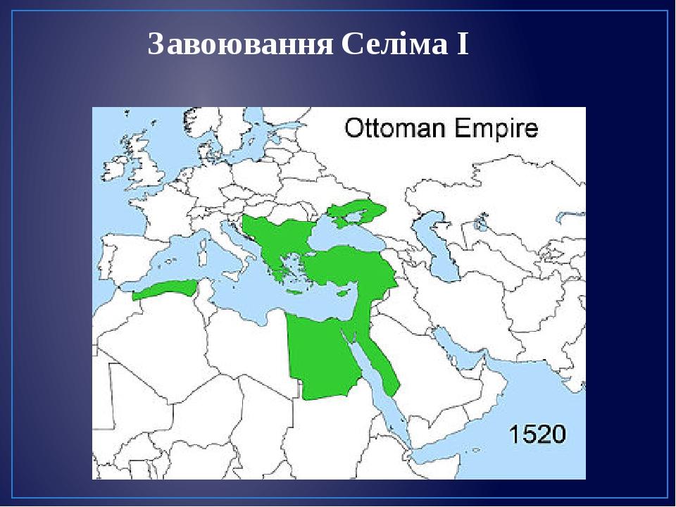 Завоювання Селіма І