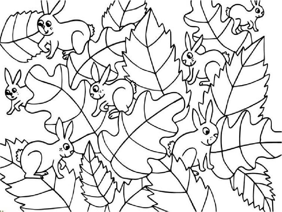 Спрятанные животные на картинках для детей