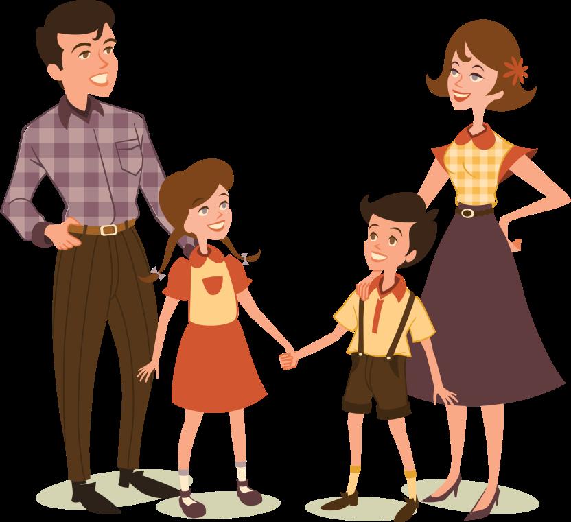 Мама и папа картинки мультяшные для детей на прозрачном фоне, юбилеем