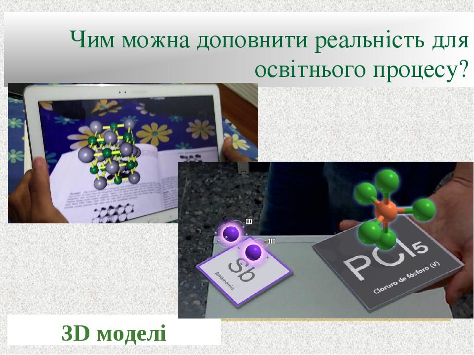 Чим можна доповнити реальність для освітнього процесу? 3D моделі