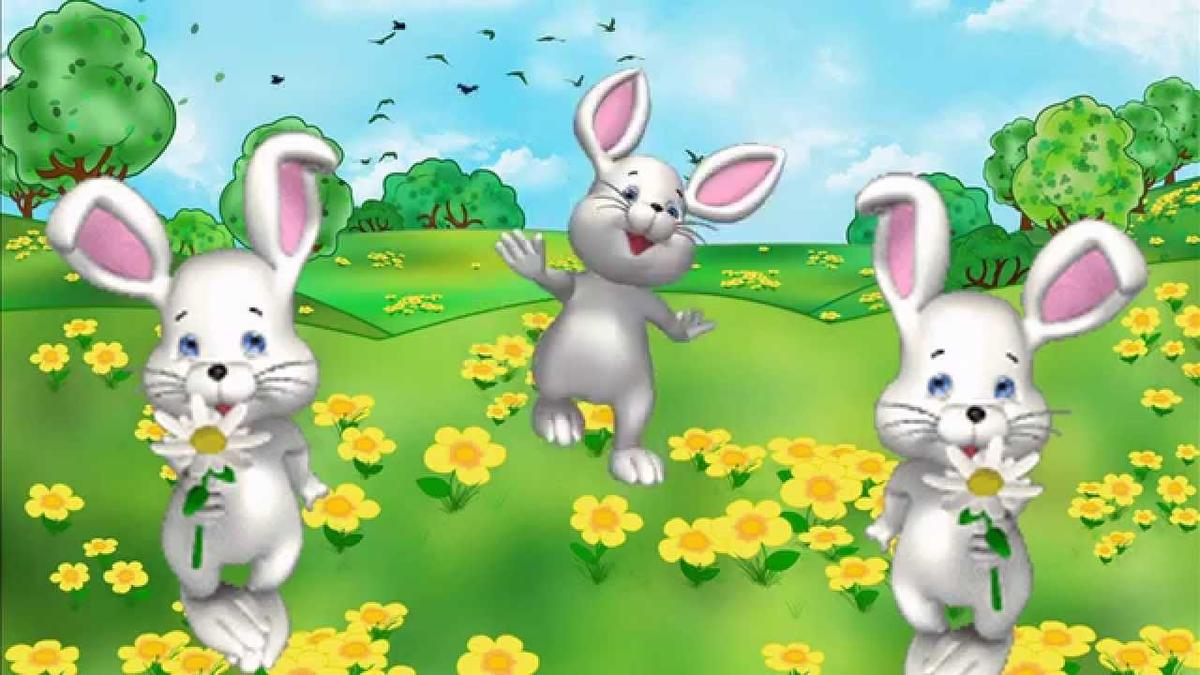 картинка заяц на полянке изображение поединка находится