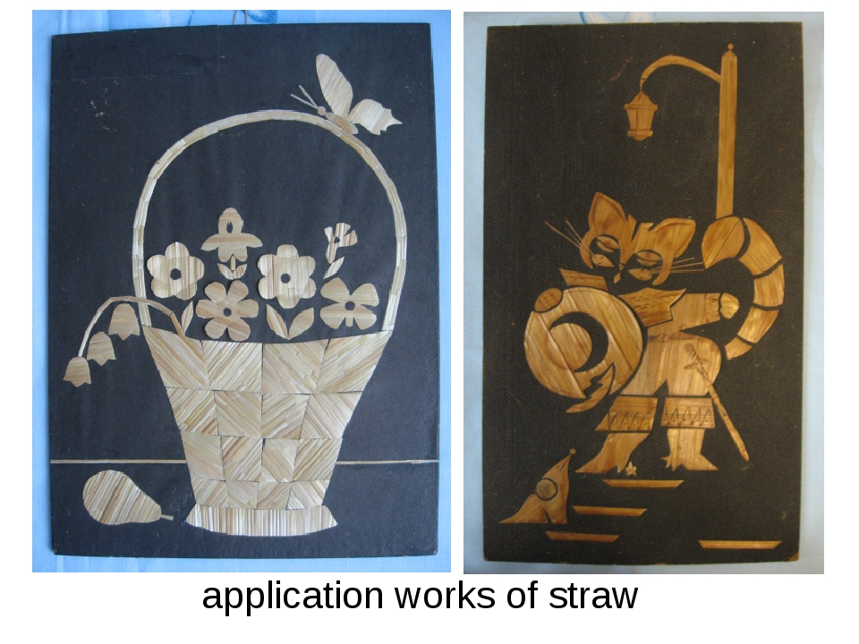 application works of straw