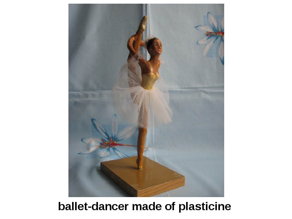 ballet-dancer made of plasticine