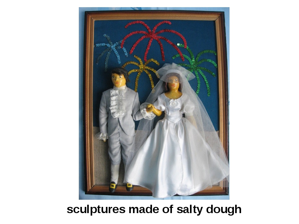 sculptures made of salty dough