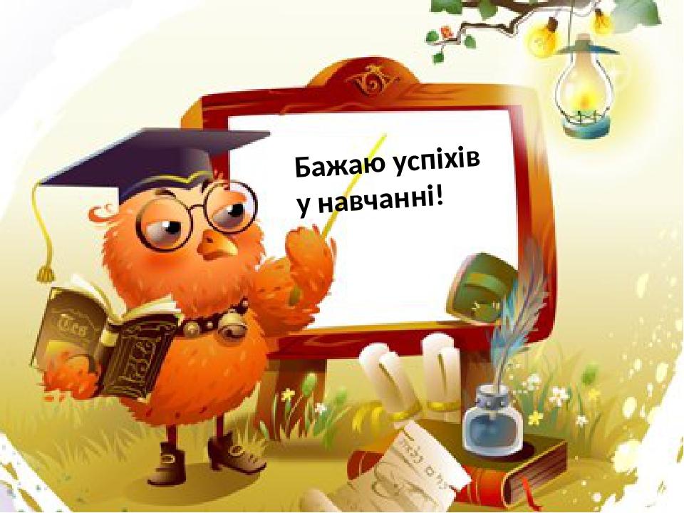 Бажаю успіхів у навчанні!