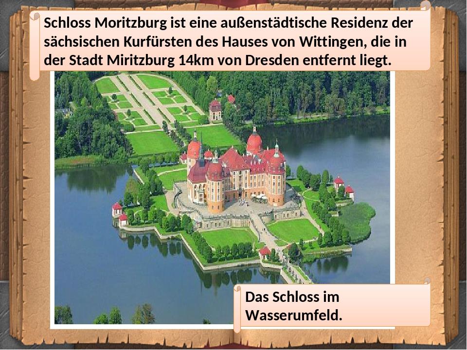 Schloss Moritzburg ist eine außenstädtische Residenz der sächsischen Kurfürsten des Hauses von Wittingen, die in der Stadt Miritzburg 14km von Dres...