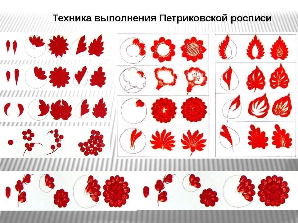 Техника выполнения Петриковской росписи