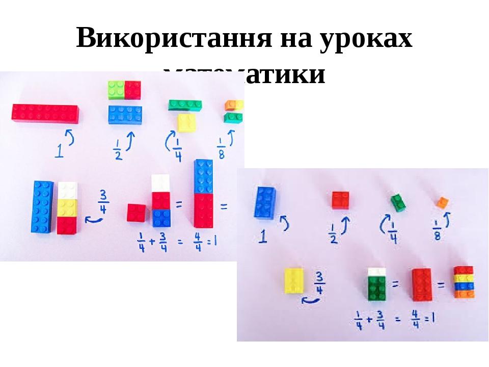 Використання на уроках математики