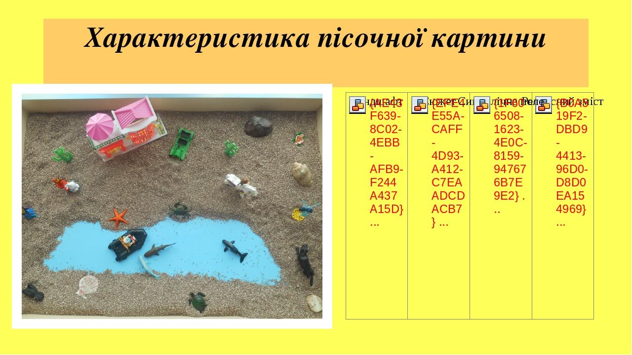 Характеристика пісочної картини
