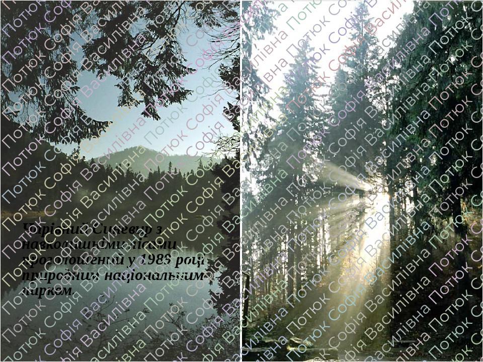 Чарівний Синевир з навколишніми лісами проголошений у 1989 році природним національним парком.
