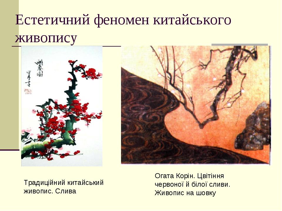 Естетичний феномен китайського живопису Огата Корін. Цвітіння червоної й білої сливи. Живопис на шовку Традиційний китайський живопис. Слива