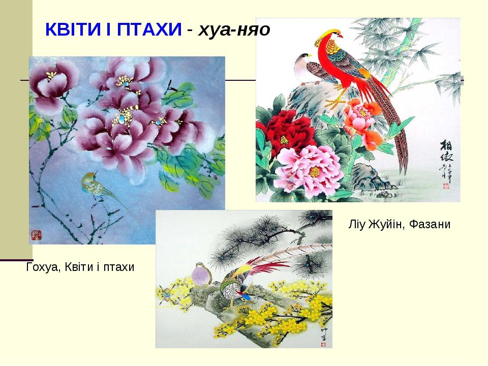 Гохуа, Квіти і птахи Ліу Жуйін, Фазани КВІТИ І ПТАХИ - хуа-няо