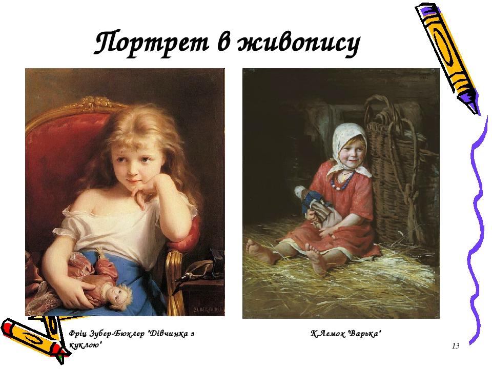 """* Портрет в живопису К.Лемох """"Варька"""" Фріц Зубер-Бюхлер """"Дівчинка з куклою"""""""