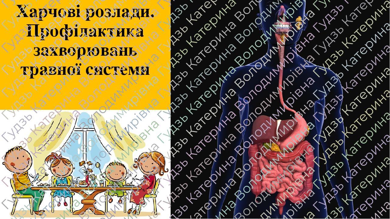 Харчові розлади. Профілактика захворювань травної системи