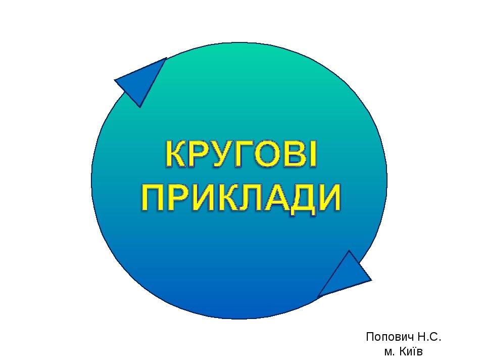 Попович Н.С. м. Київ