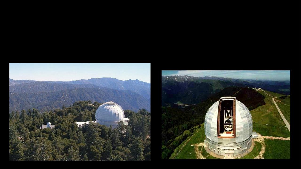 Обсерваторія на горі Вілсон (1 742 метри) недалеко від Лос-Анджелеса з'явилася в 1908 році, а в 1931 році удостоїлася відвідування Альберта Ейнштей...
