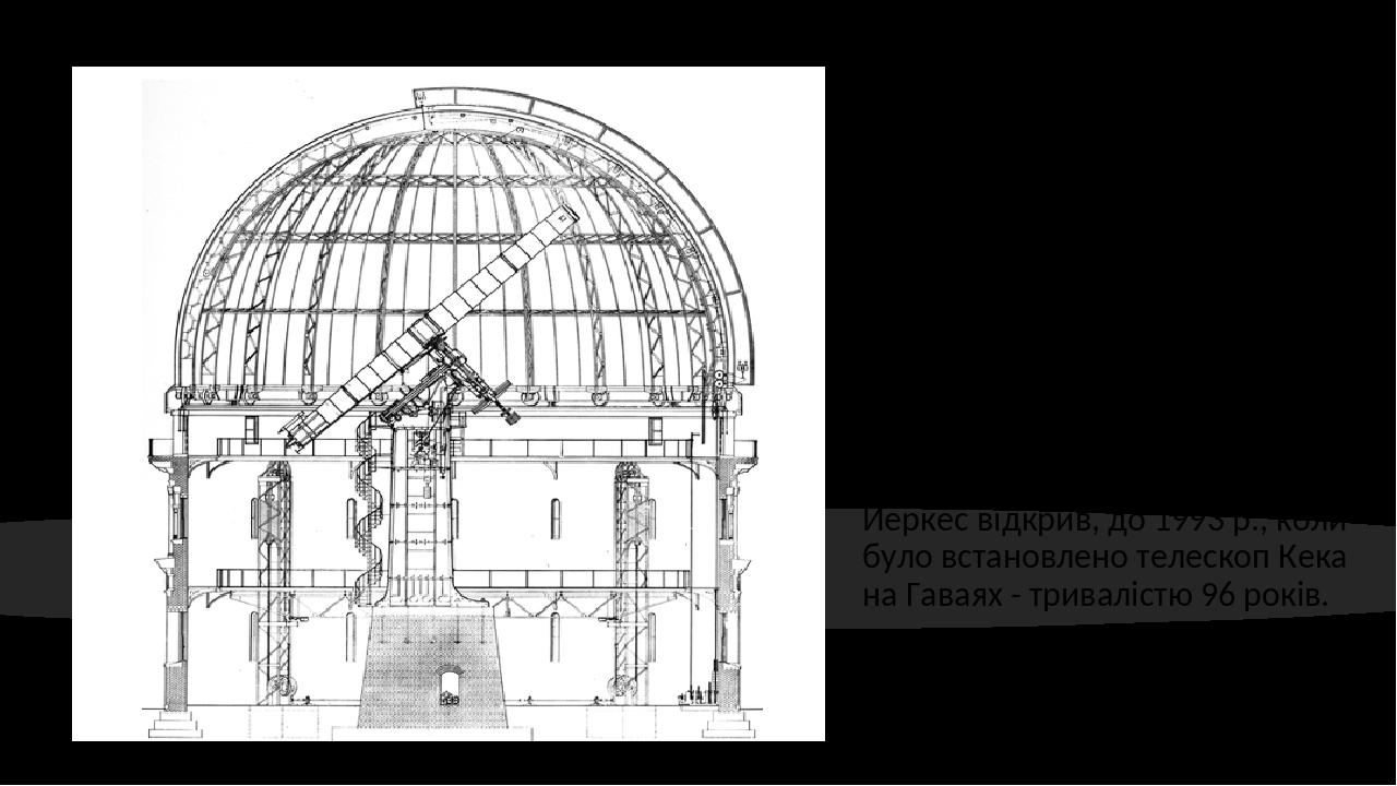 Його четвертий, 200-дюймовий телескоп Хейла у Паломарі, зображений праворуч одним із Відомі розрізні малюнки Рассела Портера. Це зображення було пе...