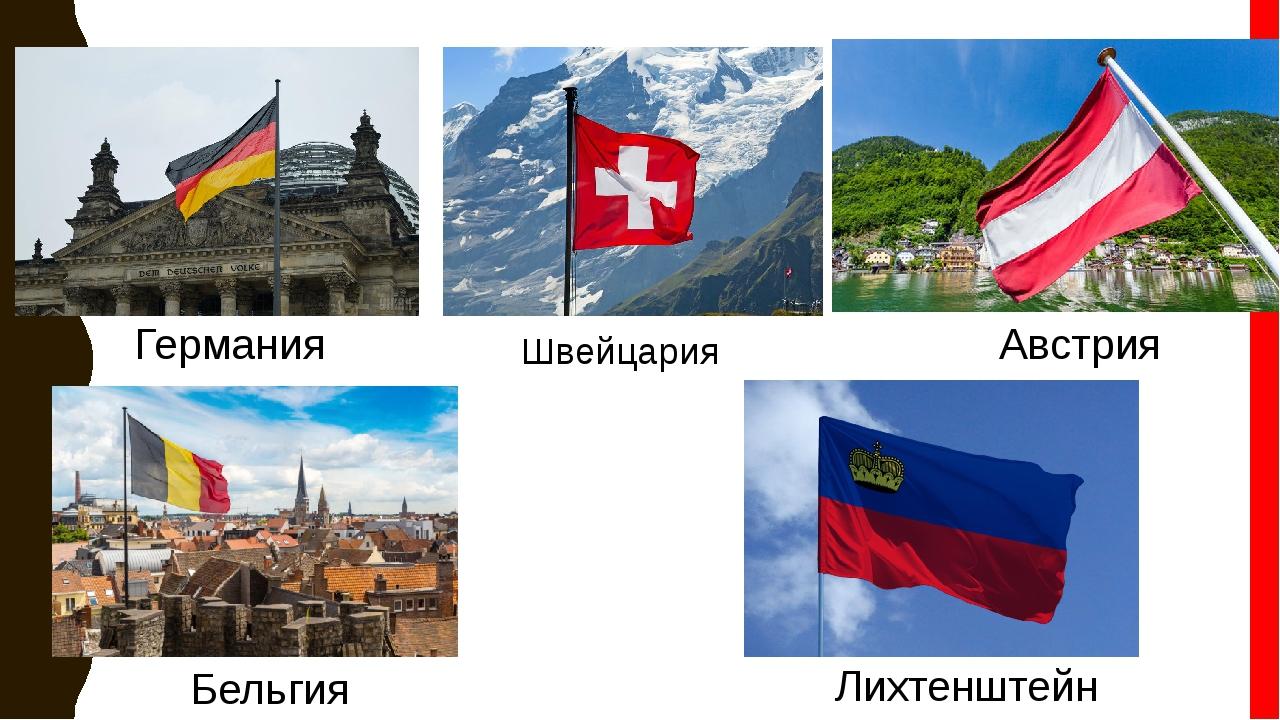 Германия Швейцария Австрия Бельгия Лихтенштейн