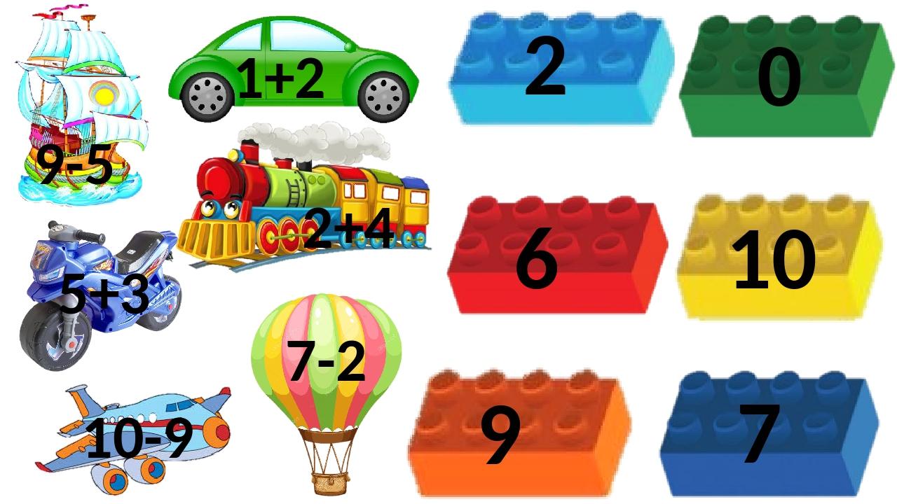 2+4 10-9 7-2 5+3 9-5 1+2 2 9 10 6 0 7