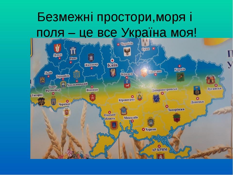 Безмежні простори,моря і поля – це все Україна моя!
