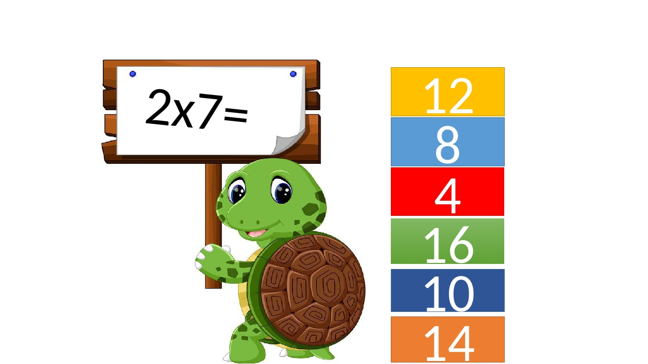 8 12 4 16 14 10 2х7=