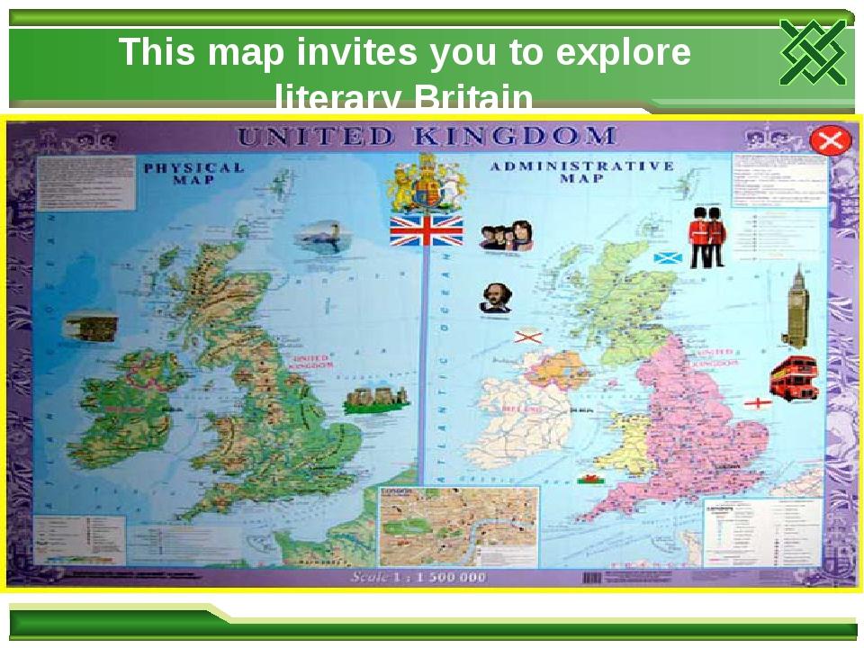 This map invites you to explore literary Britain