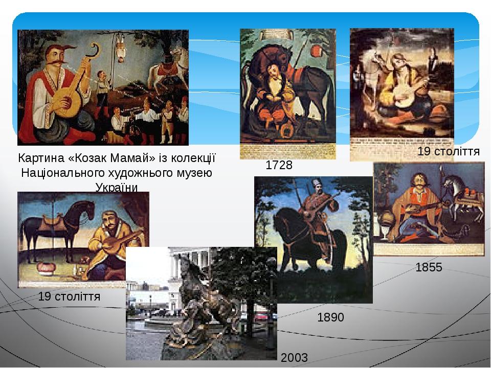 Картина «Козак Мамай» із колекції Національного художнього музею України 19 століття 1890 1855 19 століття 1728 2003