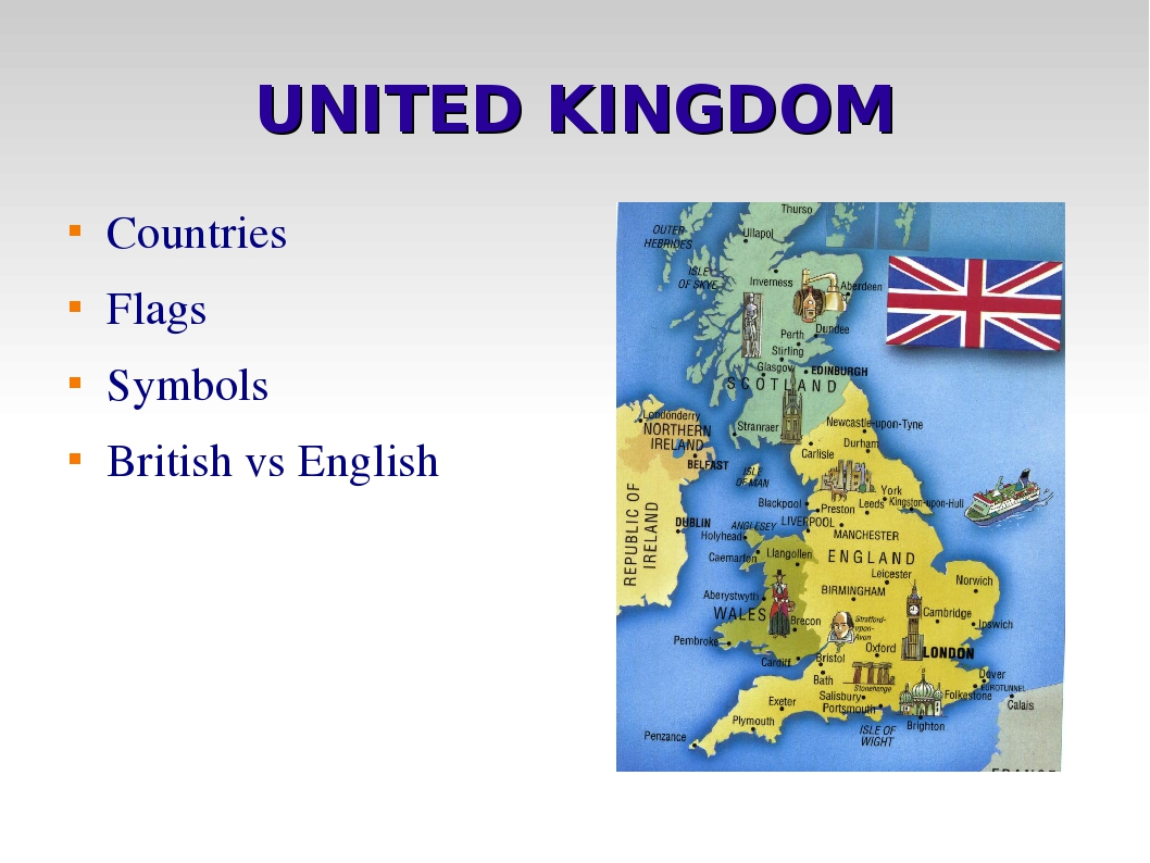 UNITED KINGDOM Countries Flags Symbols British vs English
