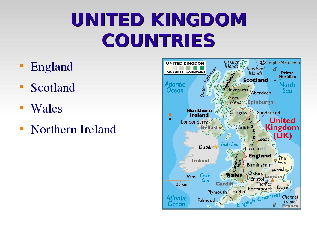 UNITED KINGDOM COUNTRIES England Scotland Wales Northern Ireland