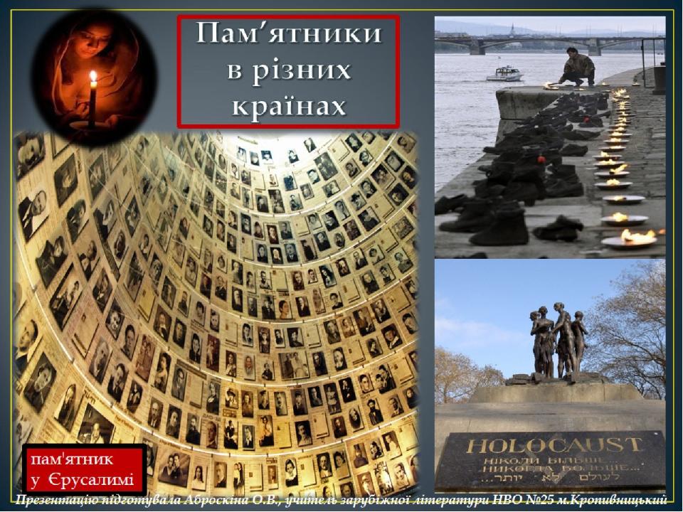Пам'ятники в різних країнах