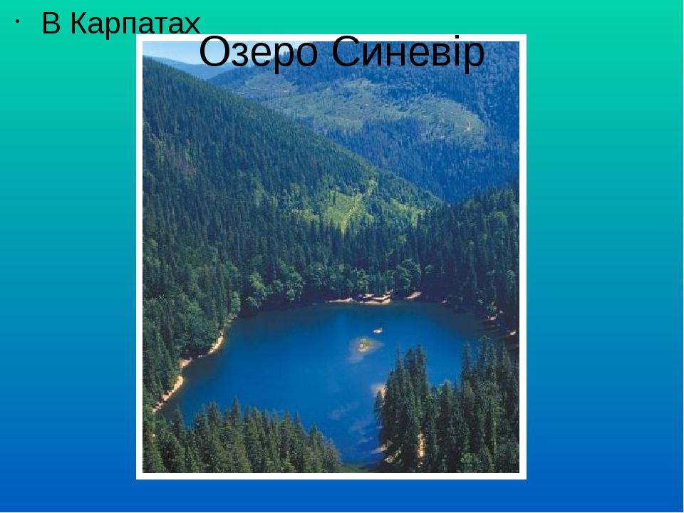 Озеро Синевір В Карпатах