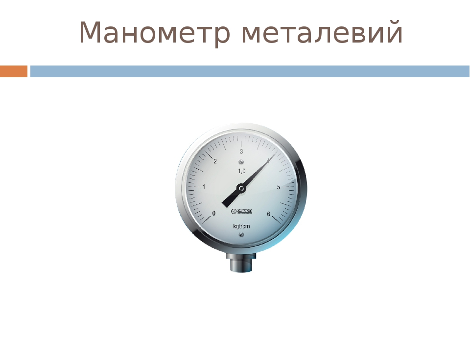 Манометр металевий