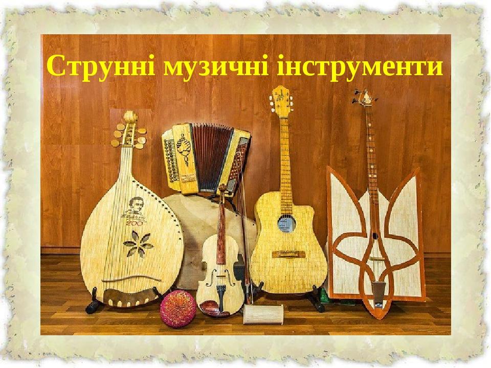 Струнні музичні інструменти