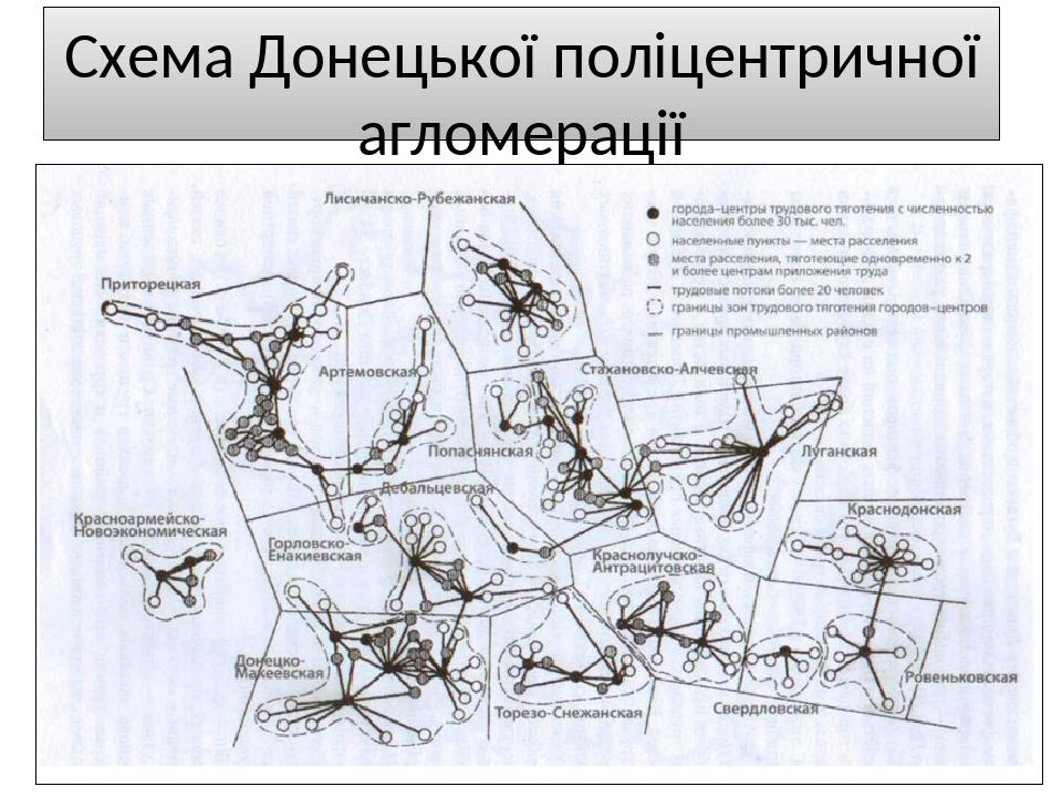 Схема Донецької поліцентричної агломерації