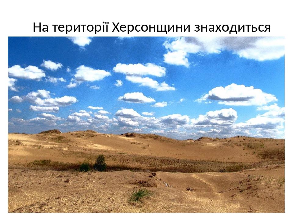 На території Херсонщини знаходиться найбільша в Європі пустеля.