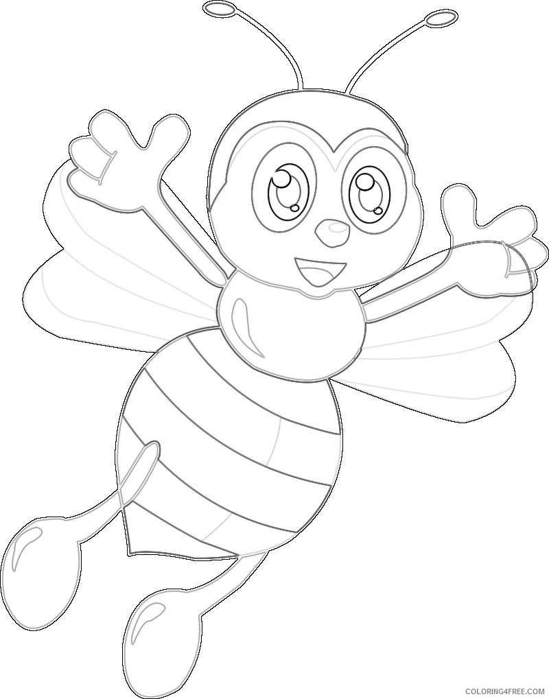 Пчелка рисунки карандашом