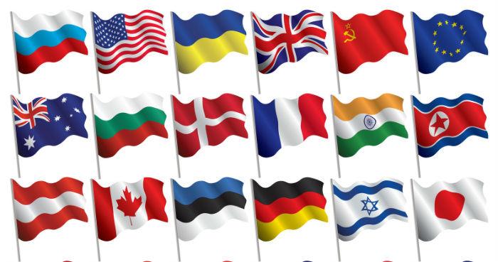 Картинка флаг с названием россии для детей